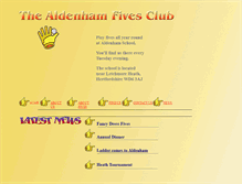 Tablet Preview of aldenhamfives.co.uk